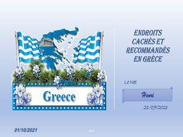 diaporama pps Endroits cachés et recommandés en Grèce