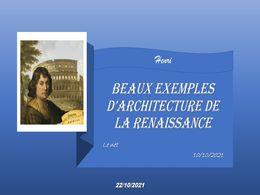 diaporama pps Architecture de la renaissance