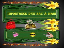 diaporama pps Importance d'un sac à main