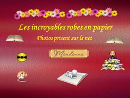 diaporama pps Incroyables robes en papier