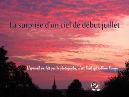 diaporama pps La surprise d'un ciel de début Juillet