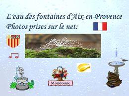 diaporama pps Les fontaines d'Aix-en-Provence