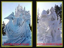 diaporama pps Sculptures sur neige
