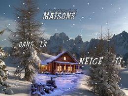 diaporama pps Maisons dans la neige II
