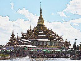 diaporama pps Myanmar – Lac Inle bâtiments sacrés