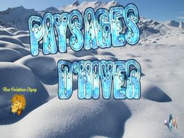 diaporama pps Paysage hiver