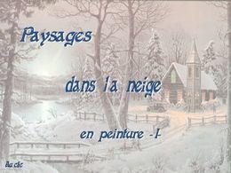 diaporama pps Paysages dans la neige en peinture I