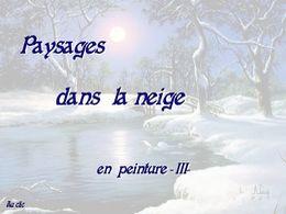 diaporama pps Paysages dans la neige en peinture III
