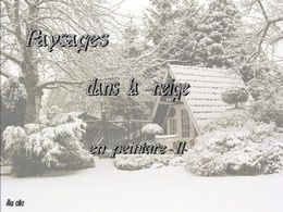 diaporama pps Paysages dans la neige en peinture II