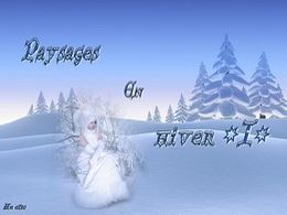 diaporama pps Paysages en hiver I