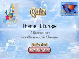 diaporama pps Quiz l'Europe 4 – 6