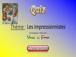 diaporama pps Quiz les impressionnistes – 1 – 2