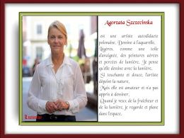 diaporama pps Agorzata Szczecinska – Artiste polonaise