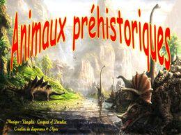 diaporama pps Animaux préhistoriques