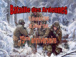 diaporama pps Bataille des Ardennes 75ème anniversaire