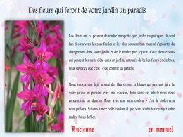 diaporama pps Fleurs pour un jardin de paradis