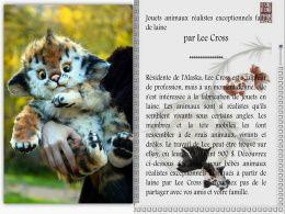 diaporama pps Jouets animaux faits de laine