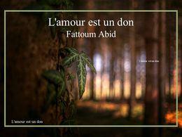 diaporama pps L'amour est un don