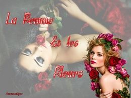 diaporama pps La femme et les fleurs