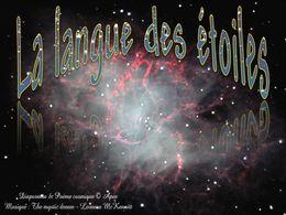 diaporama pps La langue des étoiles