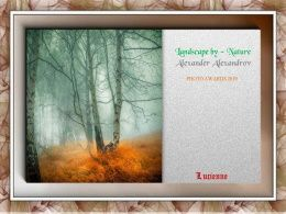 diaporama pps Landscape by nature – Alexander Alexandrov
