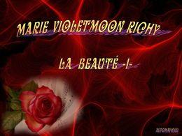 diaporama pps Marie Violetmoon Richy – La beauté I