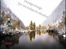 diaporama pps Musique de relaxation sur paysages enneigés