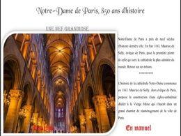 diaporama pps Notre-Dame de Paris 850 ans d'histoire