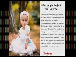 diaporama pps Photographe d'enfant – Ivan Lambrev
