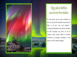 diaporama pps Plus belles aurores boréale de Norvège