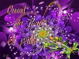 diaporama pps Quand la fleur est peinte