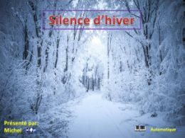 diaporama pps Silence d'hiver
