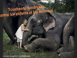 diaporama pps Tendresse entre enfants et animaux