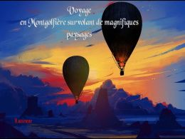 diaporama pps Voyage en montgolfière
