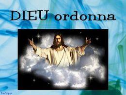 Dieu ordonna
