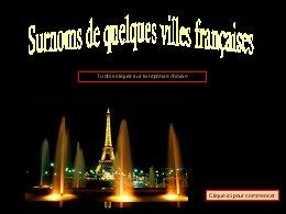 Surnom de villes françaises