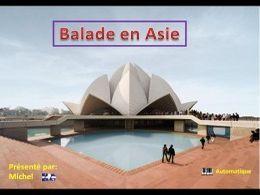 Diaporama voyage Balade en Asie