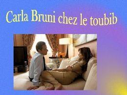 Carla Bruni chez le toubib