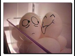 Des faces d'œufs