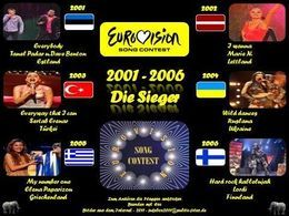 Eurovision song contest 2001-2006