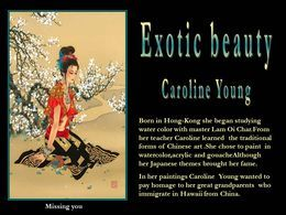 Exotic beauty Caroline Young