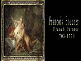 François Boucher french painter 1703-1770