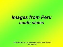 Images from Peru