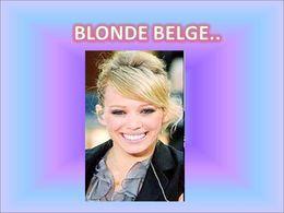 La blonde belge