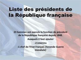 Les présidents français