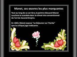 Manet; Ses œuvres les plus marquantes