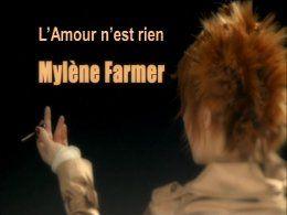 Mylène Farmer l'amour n'est rien