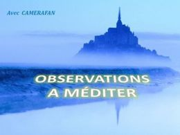 Observations à méditer