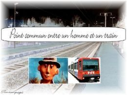 Point commun entre un homme et un train
