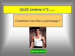 Quiz cinéma N°3 Bruce Lee